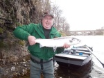 David Somers with 10lb salmon caught at Tillmouth on Monday, 8th April.