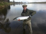 Harry Santa Olalla had a super day at Upper North Wark catching his first ever salmon estimated at 16lb and soon followed by this cracking 12lb fish thanks too my ghillie for the day Daniel Wright.