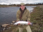 Chris Jones with his first Salmon from West Learmouth