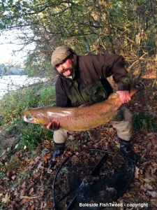 Nigel holding 50lb salmon