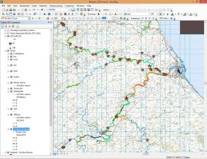 A GIS screenshot of the Tweed Invasives Project